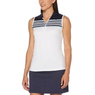 Women's PGA TOUR Engineered Roadmap Print Sleeveless Polo Golf Shirt