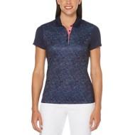 Women's PGA TOUR Roadmap Camo Print Short Sleeve Polo Golf Shirt