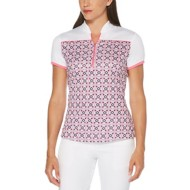 Women's PGA TOUR Kaleidoscope Front Print Short Sleeve Golf Shirt