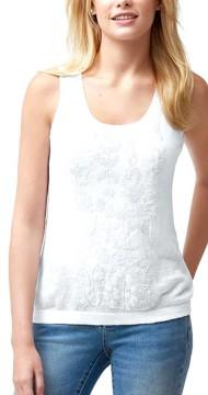 Women's Tommy Bahama Lea Embellished Linen Tank Sweater