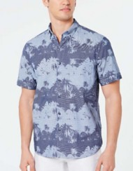 Men's Tommy Bahama Pixel Palms Button Down Short Sleeve Shirt
