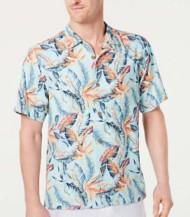 Men's Tommy Bahama Break Wave Fronds Button Down Short Sleeve Shirt