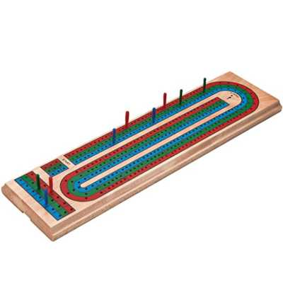 Great Lakes Darts Mainstreet Classics Wooden Cribbage Board