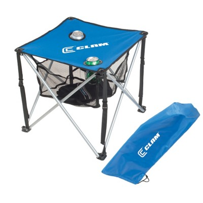 Clam Square Folding Table with Carry Case