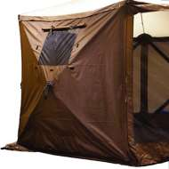 Clam 3-Pack Wind Panels - Brown w/ windows