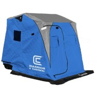 Clam Fish Trap X Series Shelter Warrior X Thermal with Auger Rack