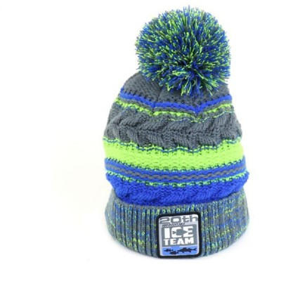 Ice Team Pom Hat Chartreuse Blue