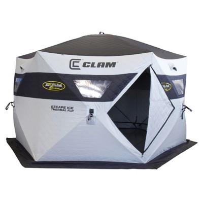 Clam Jason Mitchell Escape Ice Thermal FLR Hub Shelter