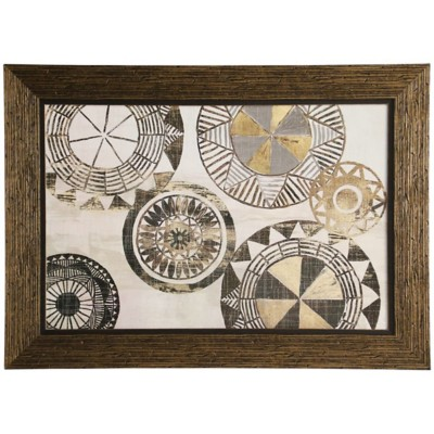 StyleCraft Home Collection Textured Abstract Wheels Framed Print
