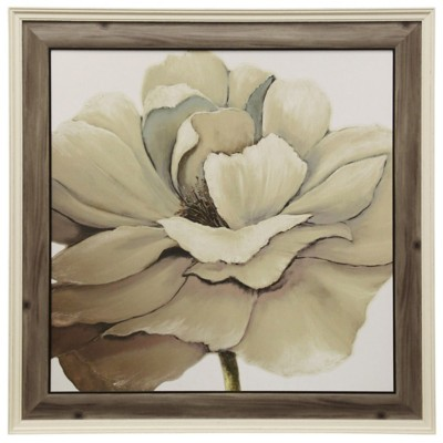 StyleCraft Home Collection Textured Large Flower Framed Print