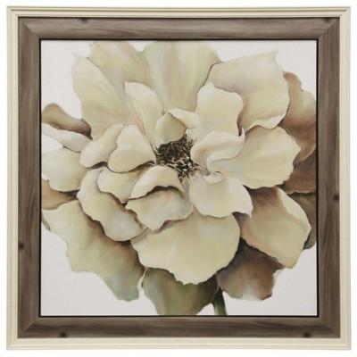 StyleCraft Home Collection Textured Flower Framed Print