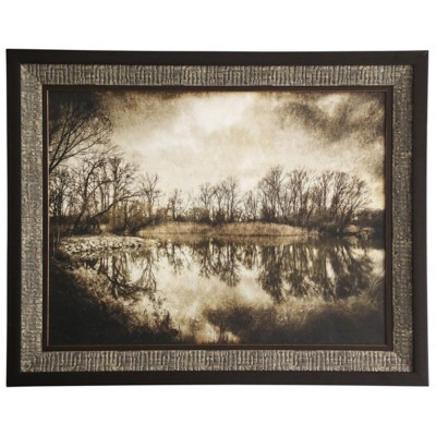 StyleCraft Home Collection Textured Scenic Trees Framed Print