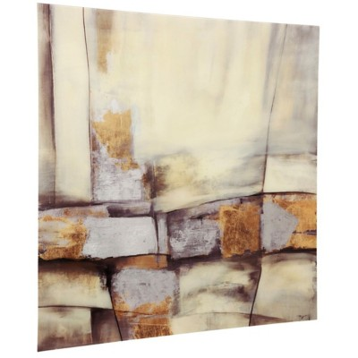 StyleCraft Home Collection Tempered Glass Art Print with Metallic Foil