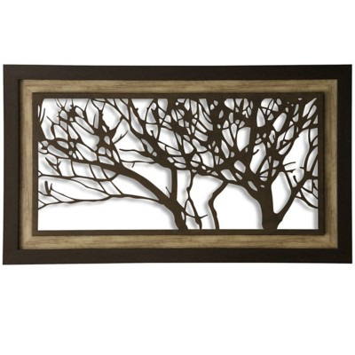 StyleCraft Home Collection Metal Laser Cut Tree Framed Print
