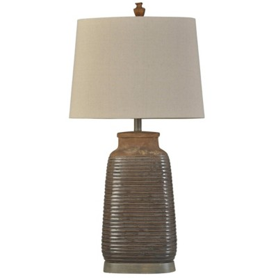 StyleCraft Home Collection Armond Brown Traditional Ceramic Table Lamp