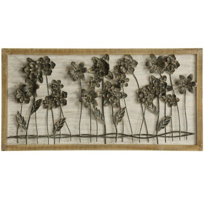 StyleCraft Home Collection Flower Bed Row   Traditonal 3-D Wall Sculpture