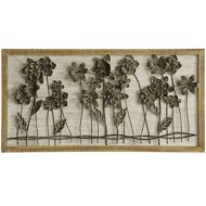 StyleCraft Home Collection Flower Bed Row | Traditonal 3-D Wall Sculpture