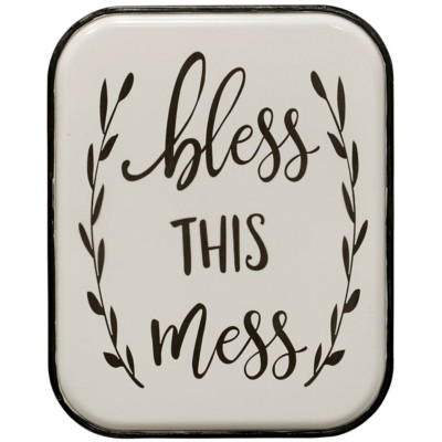 StyleCraft Home Collection Bless This Mess  Metal Wall Panel