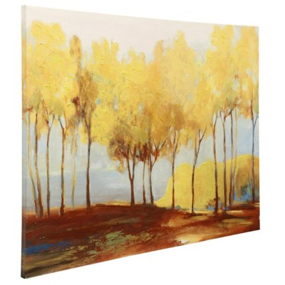 StyleCraft Home Collection Oxide Treeline | Stretched Canvas | Half Hand Painted