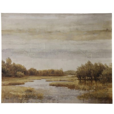 StyleCraft Home Collection River Meadow | Stretched Canvas | Hand Embellished