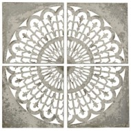 StyleCraft Home Collection Tuscan Quad | Set of 4 | This Set of Lazer Cut Galvanized Metal Wall Panel