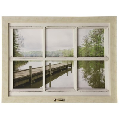 StyleCraft Home Collection Lake Chicot Wall Art with Handle