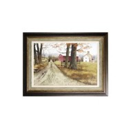 StyleCraft Home Collection Textured wood framed print The Road Home