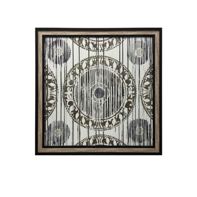 StyleCraft Home Collection Aztec Print Textured and Framed