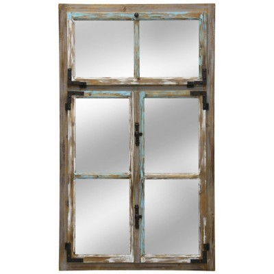 StyleCraft Home Collection Distress Window Pane Wall Mirror