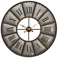 StyleCraft Home Collection Large Styled Galvanized Metal Wall Clock