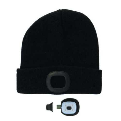 Men's Two Left Feet Night Scout Rechargeable LED Beanie