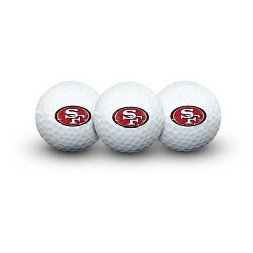 Team Effort San Francisco 49ers 3 Pack Golf Balls