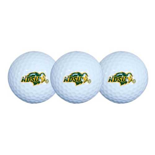 Team Effort North Dakota State Bison 3 Pack Golf Balls