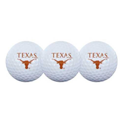 Team Effort Texas Longhorns 3 Pack Golf Balls