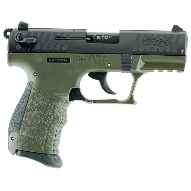 Walther 5120338 P22MCA 22 LR MILITARY    *CA Pistol
