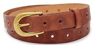 Women's Fossil Floral Perforated Belt