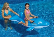 Swimline Blue Dolphin Inflatable Ride-On