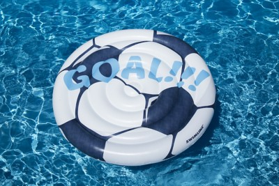 "Swimline 60"" Soccerball Inflatable Pool Island"