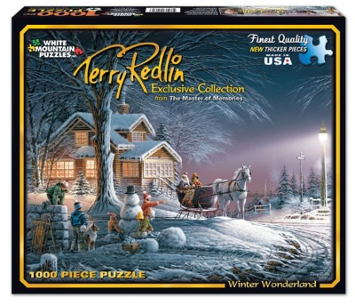 White Mountain Terry Redlin Winter Wonderland Puzzle