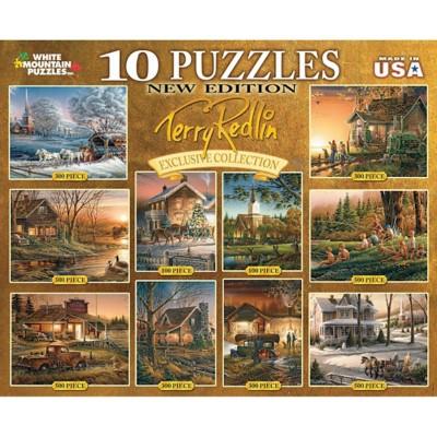 White Mountain Terry Redlin Ten In One Puzzle
