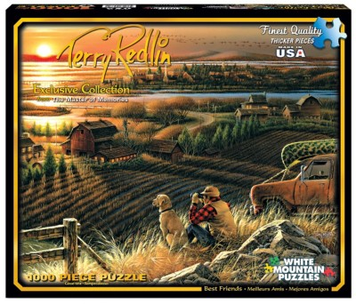 White Mountain Terry Redlin Best Friends Puzzle' data-lgimg='{
