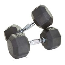 USA Sports Rubber Coated End Dumbbell