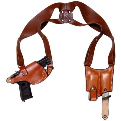 Triple K Ultra 3-Piece Shoulder Holster and Mag Pouch for Glock Models 17/19/22/23/26/27' data-lgimg='{