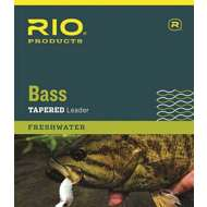 RIO Bass Knotless Tapered Leader