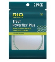 RIO Powerflex Plus Trout Tapered Leader 2 Pack