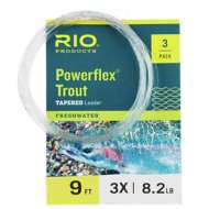 Rio Powerflex Trout Leader 9 ft. 3-Pack