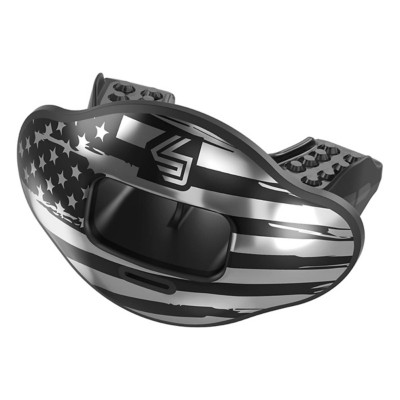 Adult Shock Doctor Chrome Flag Max AirFlow Football Mouthguard