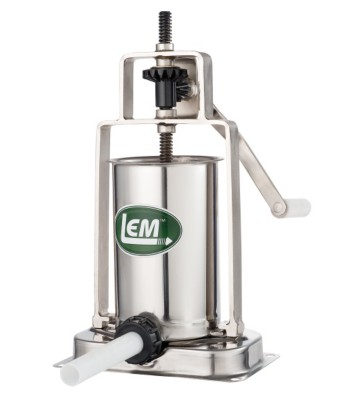LEM Stainless Steel 5 Lb. Vertical Sausage Stuffer' data-lgimg='{