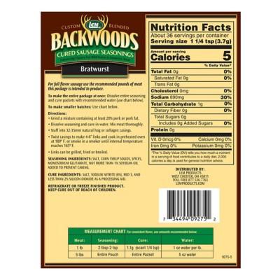 LEM Backwoods Bratwurst Cured Sausage Seasoning