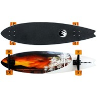 Paradise White Sunset Fish Longboard